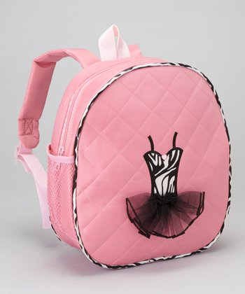 Pink Zebra Tutu Backpack
