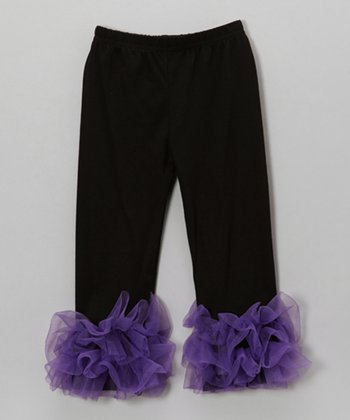 Purple Ruffle Pants - Toddler & Girls