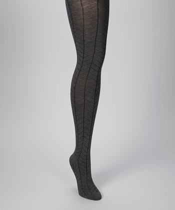 Heather Gray Herringbone Tights