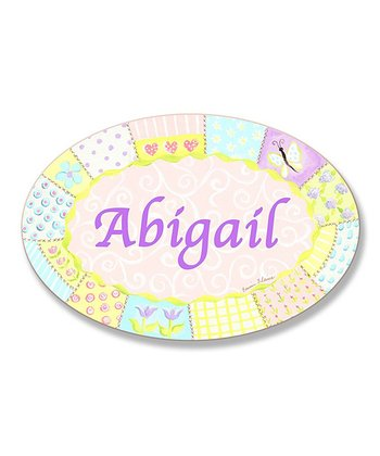 Quilt Personalized Oval Wall Art