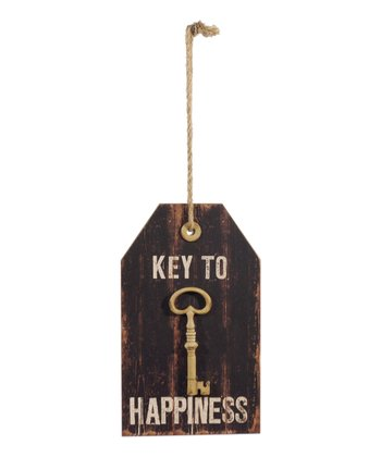 'Key to Happiness' Tag Sign