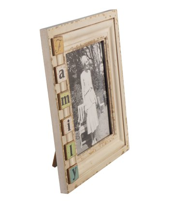 White 'Family' Wood Frame