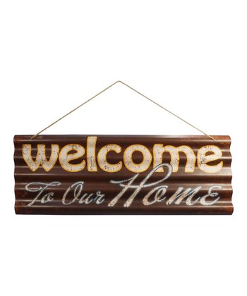 'Welcome' Tin Wall Art