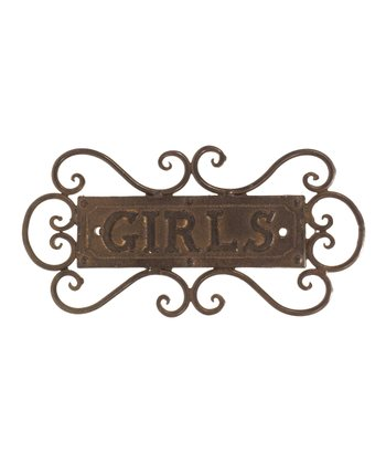 Floral 'Girls' Scroll Sign