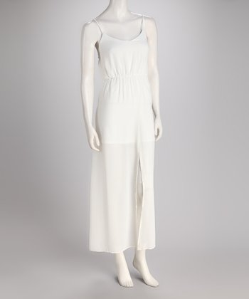 Ivory Chiffon Maxi Dress