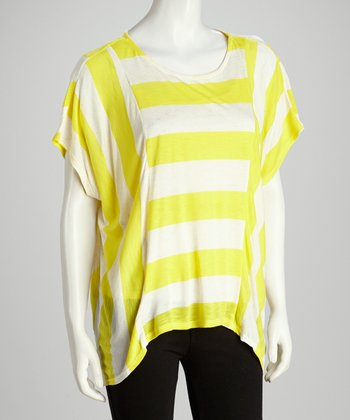 Yellow & White Stripe Top