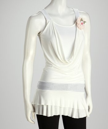 White Blossom Layered Tunic