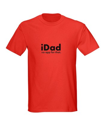 Red 'iDad No App for That' Tee - Men