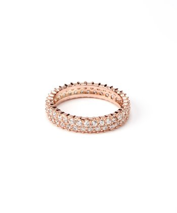 Rose Gold Double-Strand Eternity Ring
