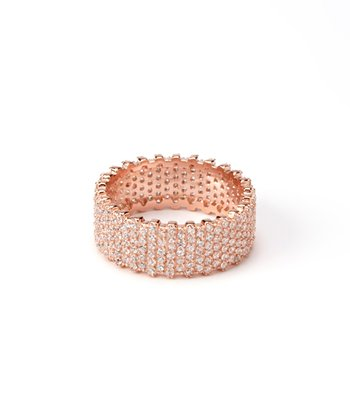 Rose Gold Wide Eternity Ring