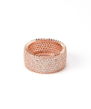 Rose Gold Seven-Strand Eternity Ring