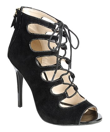 Black Rapture Peep Toe Pump