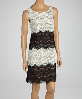 Black & Ivory Lace Dress