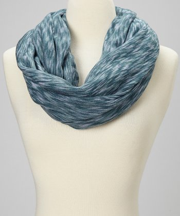 Blue Wave Infinity Scarf