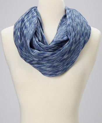 Navy Wave Infinity Scarf
