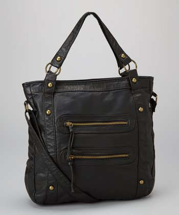 Black Double-Zip Tote