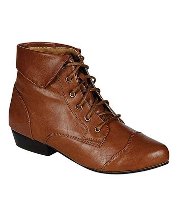 Tan Oxford Ankle Boot