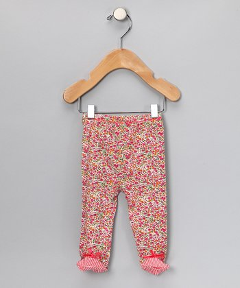 Pink Floral Footie Pants - Infant