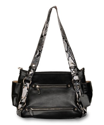 Black Jaipur Diaper Bag