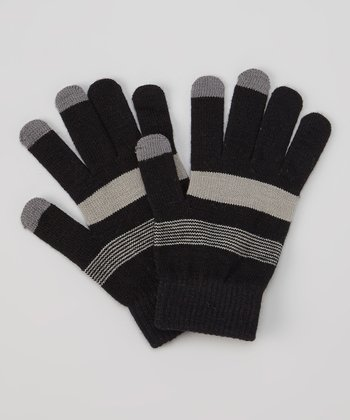 Black & Gray Touch Screen Gloves
