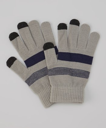 Gray Touch Screen Gloves