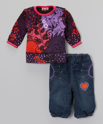 Crown Jewel Bobbi Top & Denim Blue Afi Jeans - Infant