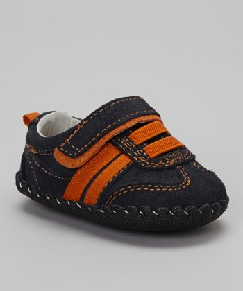 Navy & Orange Mini Frederick Sneaker