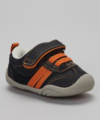 Navy & Orange Strap Frederick Sneaker