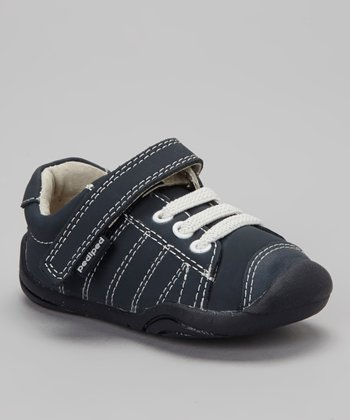 Navy Triple Lace Jake Sneaker