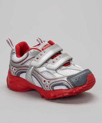 pediped Gray & Red Mercury Sneaker