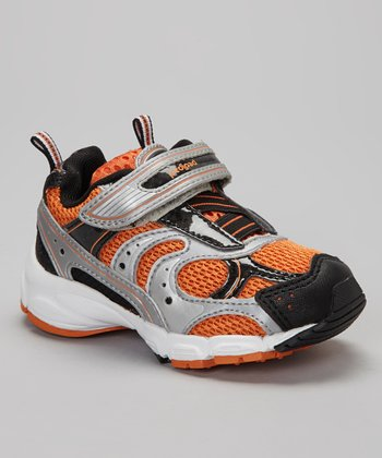 Black & Orange Saturn Sneaker