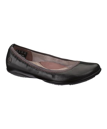 Black Leather Kriya Skimmer - Women
