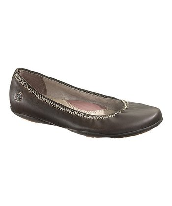 Dark Brown Leather Kriya Skimmer - Women
