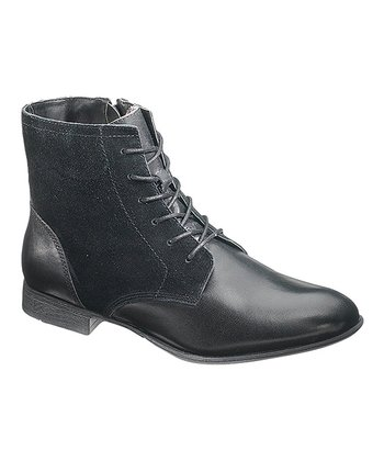 Black Suede Farland Ankle Boot - Women