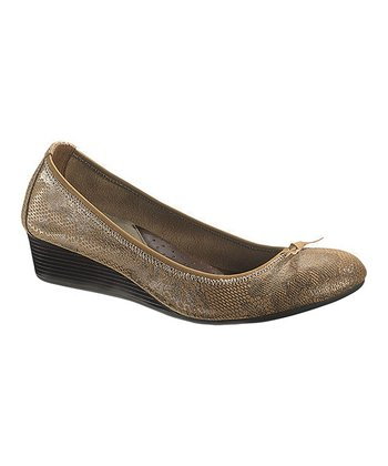 Tan Snake Candid Pump - Women