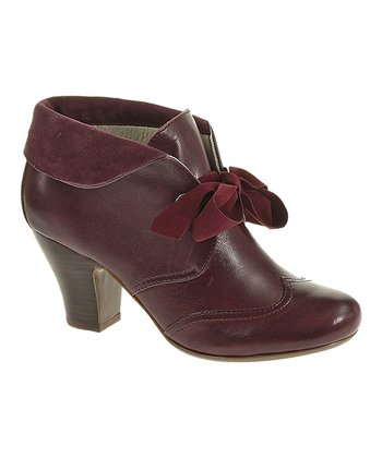 Plum Leather Lonna Bootie - Women