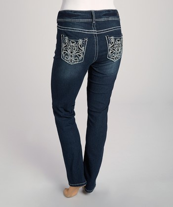 Dark Blue Curvy Skinny Jeans - Plus
