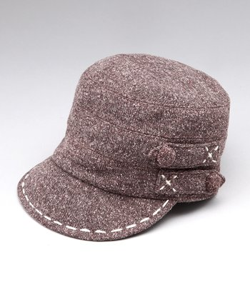 Brown Contrast Stitch Cadet Cap