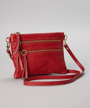 Bordeaux Leather Crossbody Bag