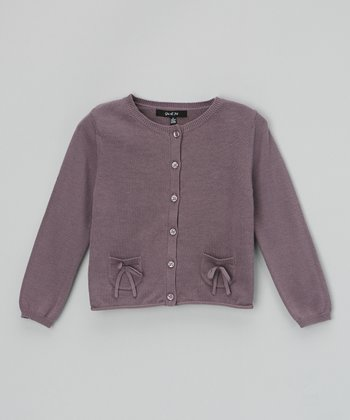 Lavender Ribbon Pocket Cardigan - Toddler & Girls