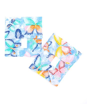 Blue Butterflies Wrap & Mini Pouch