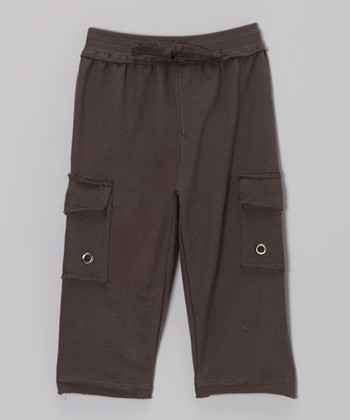Charcoal Knit Cargo Pants - Infant