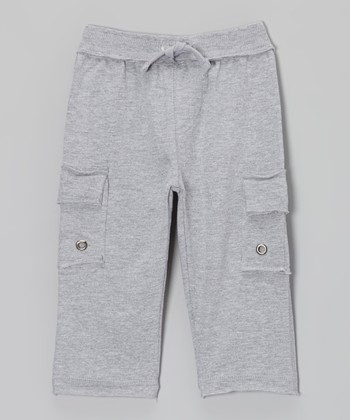 Gray Knit Cargo Pants - Infant & Boys