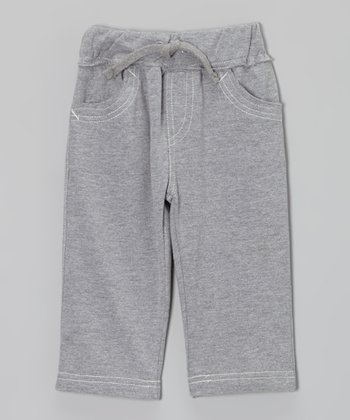 Gray Stitch Pants - Infant, Toddler & Boys