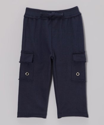 Navy Knit Cargo Pants - Infant, Toddler & Boys