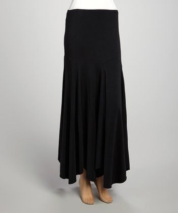 Black Scalloped Skirt - Women