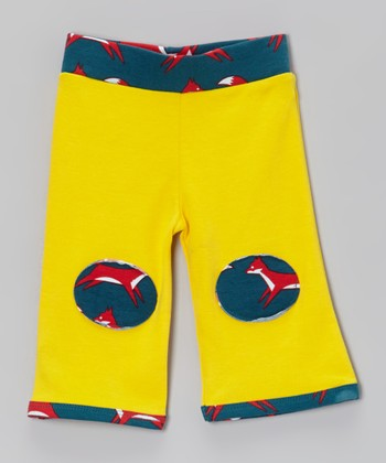 Blue & Yellow Fox Padded Pants - Infant & Toddler