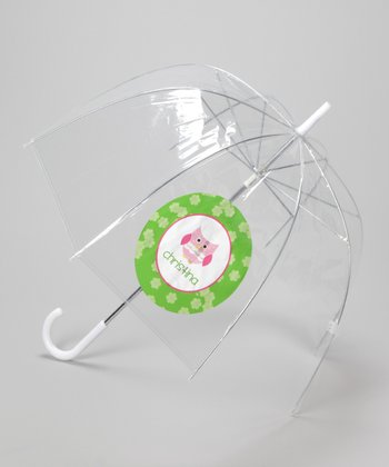 Clear Patchwork Owl Personalized Umbrella