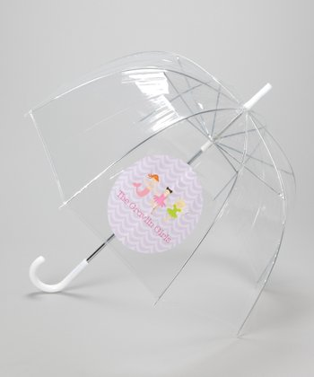 Clear Princess Line-Up Personalized Umbrella