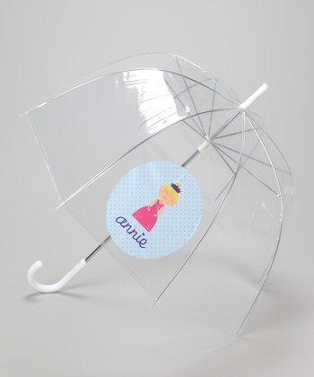 Clear Princess Personalized Umbrella